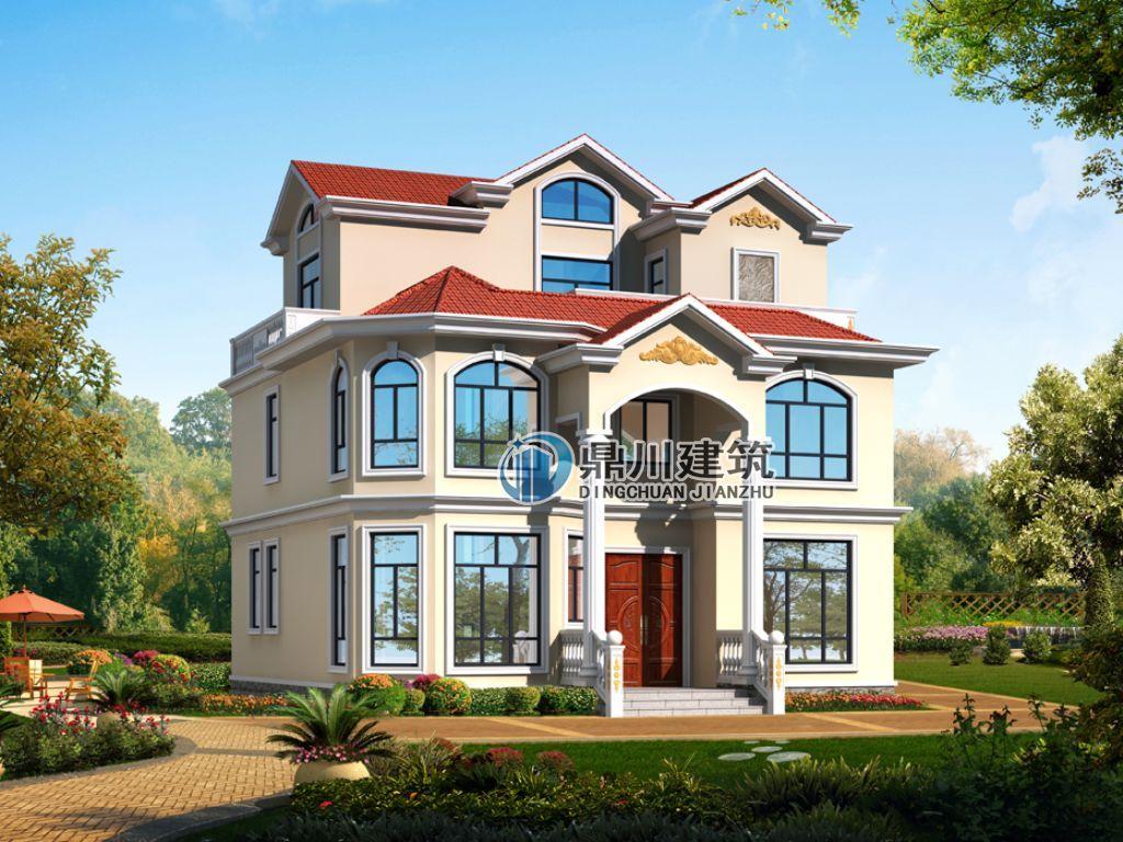 【新款】农村三层简欧别墅设计,12×13米,6室5卫适合农村自建!