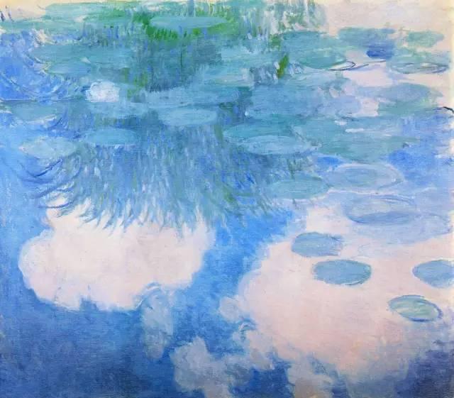 文化 正文  在莫奈的《睡莲》中,与其说他是用色彩表现大自然的水中
