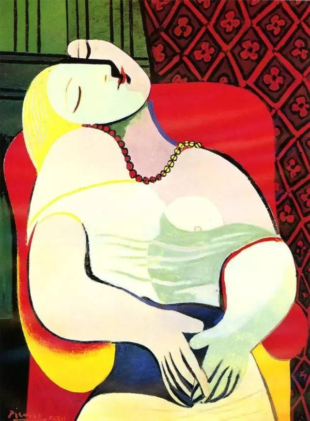 这幅画作可以说是毕加索对灵与肉的最完美的体现.
