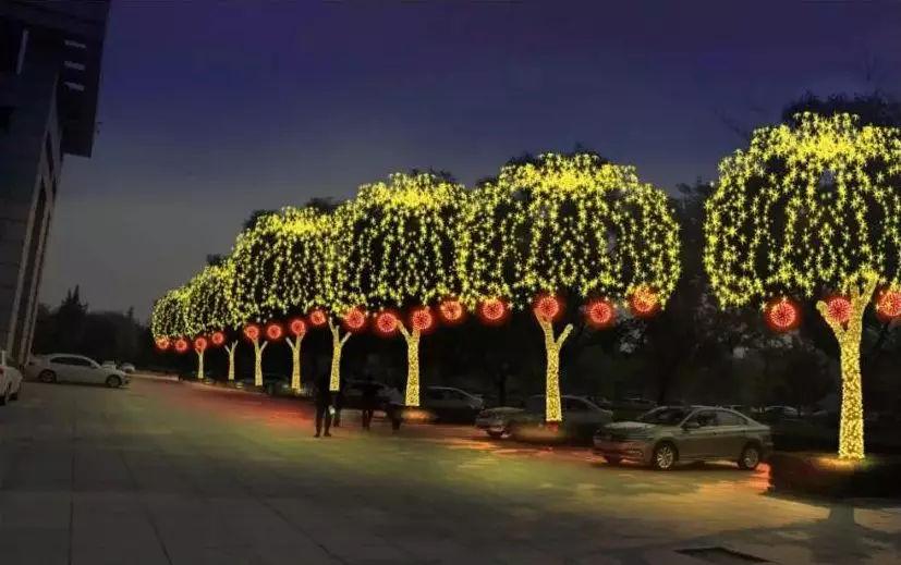中国梦 灯光雕塑