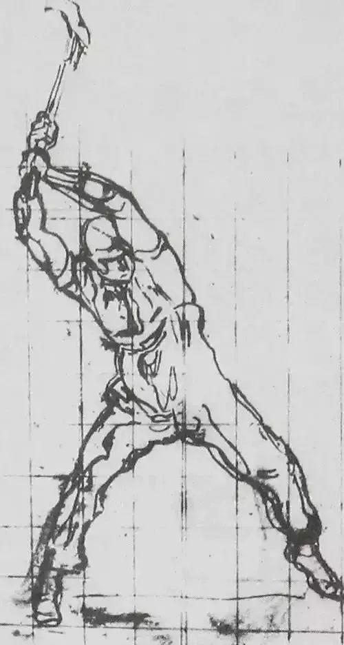 《井畔妇女》 图3 荷德勒《劈柴的人》 / 速写的三种表现形式  ①线的图片