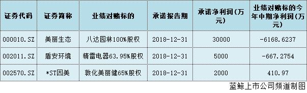 """上市公司2018商誉减值风险或至高峰美丽生态等3公司业绩难""""美丽"""