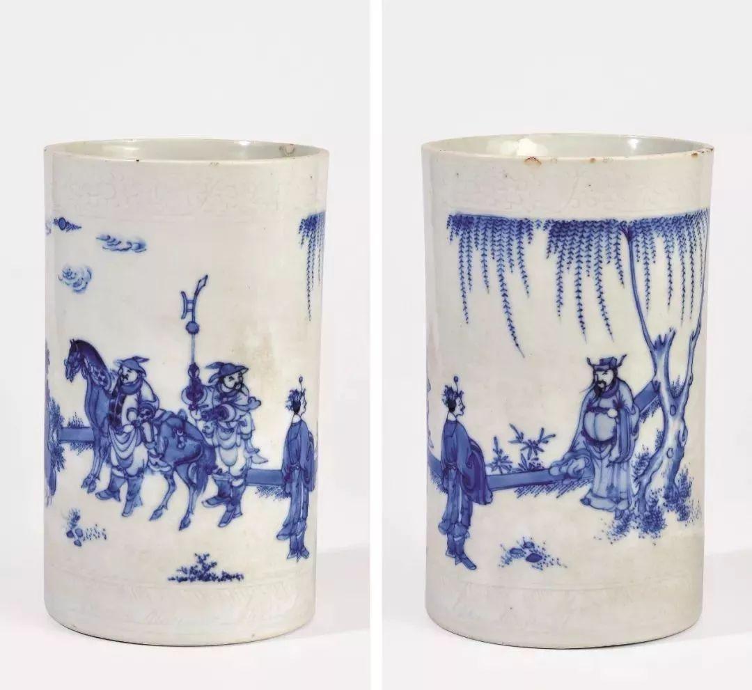 中式陶瓷插花花瓶图片