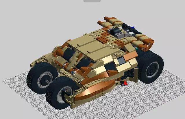 lego乐高moc 科技蝙蝠车moc图纸分享