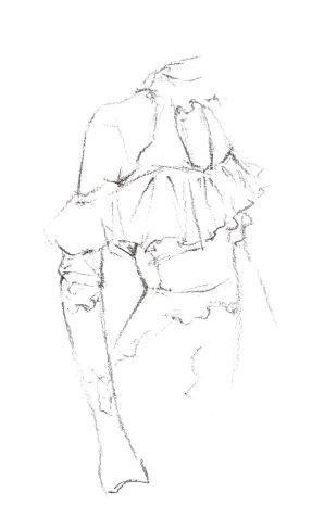 服装设计手绘中的蕾丝面料该如何表现