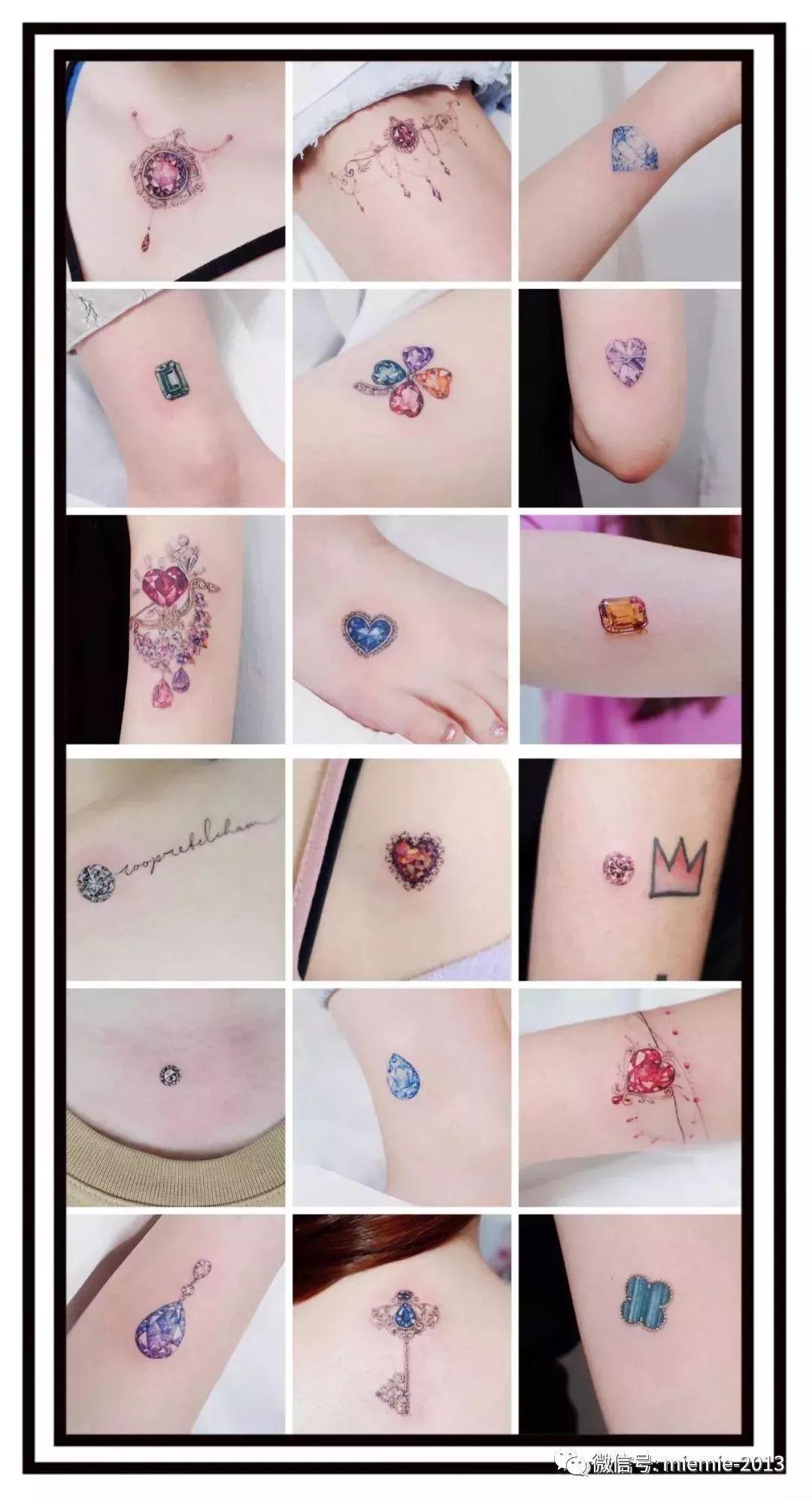 最近最火的一种纹身图案