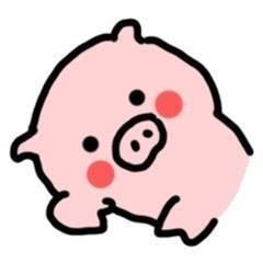 简笔画猪猪可爱表情包