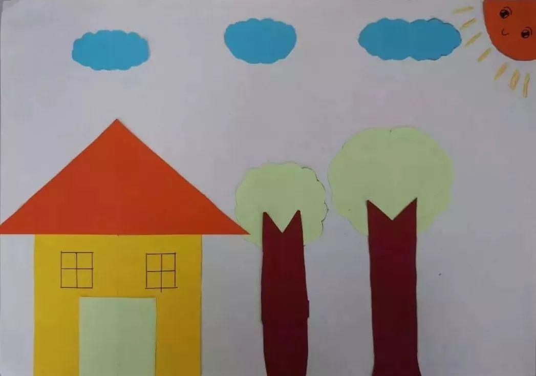 5年级5班的孩子,在再次学习了轴对称图形的知识后,完成了一次拼贴画