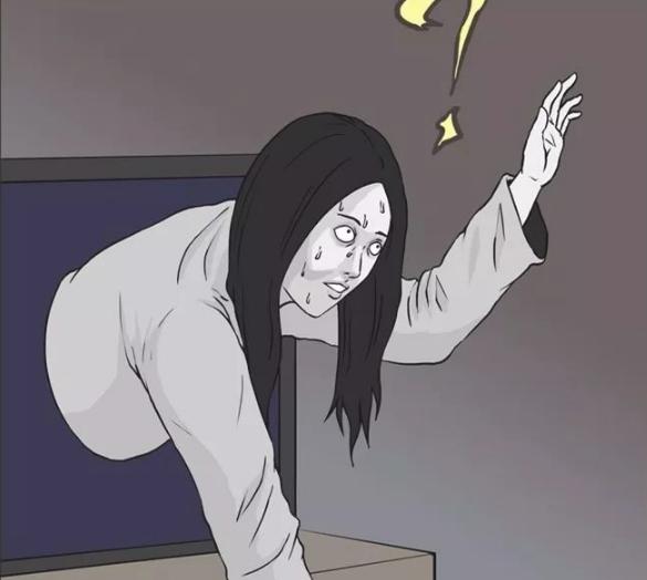 搞笑漫画:贞子偶遇商机,并成功创业了!图片