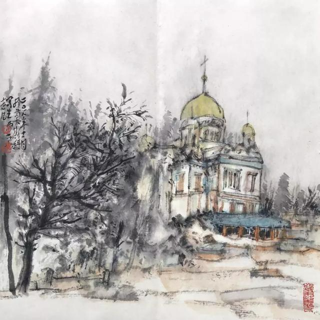 画家贾荣志俄罗斯写生作品欣赏图片
