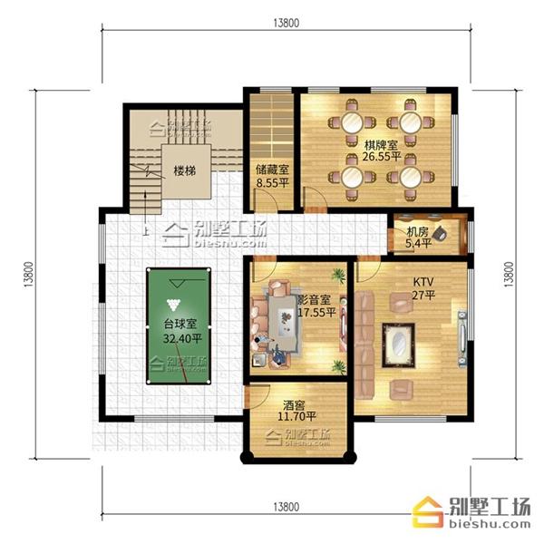 新农村三层别墅设计图,开拓地下室享受更多功能布局