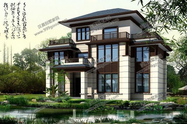 自建房担心造价?3款农村别墅设计图给出答案,新中式别墅带庭院