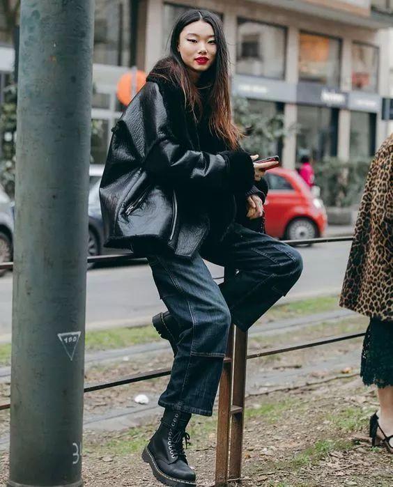 马丁靴搭配_一双马丁靴,搞定冬日 99 种搭配!_长度