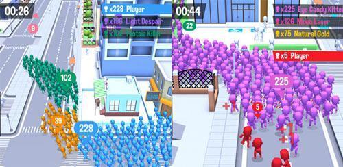 原来这是一款名为《拥挤城市》(crowd city)的大乱斗游戏,看着游戏画