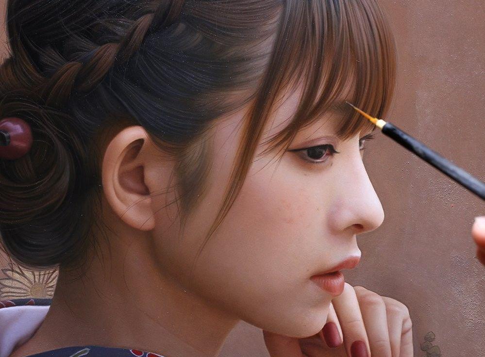 日本油画界的宫崎骏:笔下小姐姐纤毫毕现,犹胜三次元,风情万种