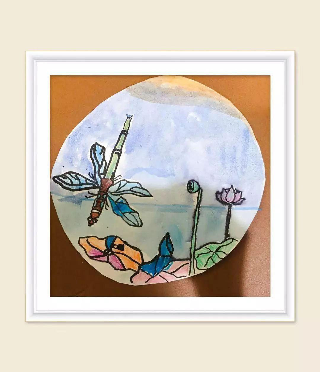 蜻蜓手绘图片水粉