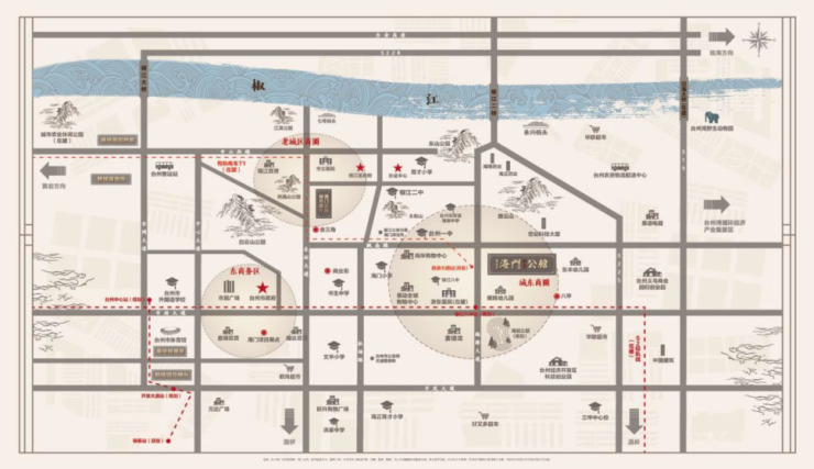 椒江老城区规划图