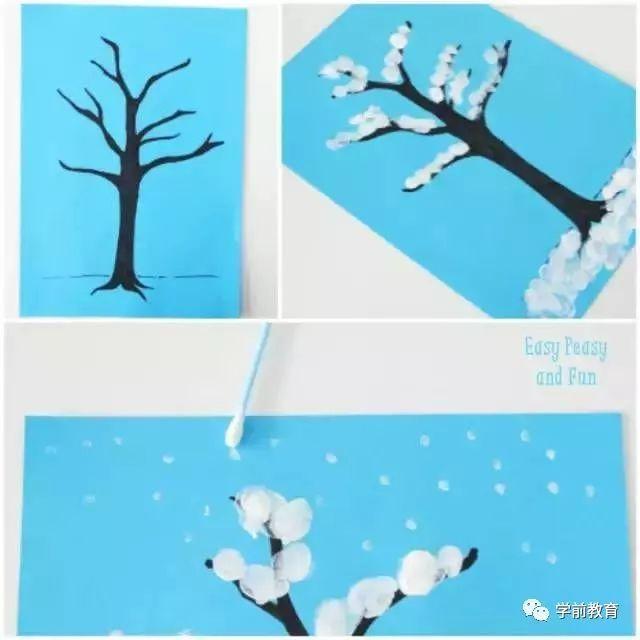3款冬季手工制作,做一个美丽的雪世界吧