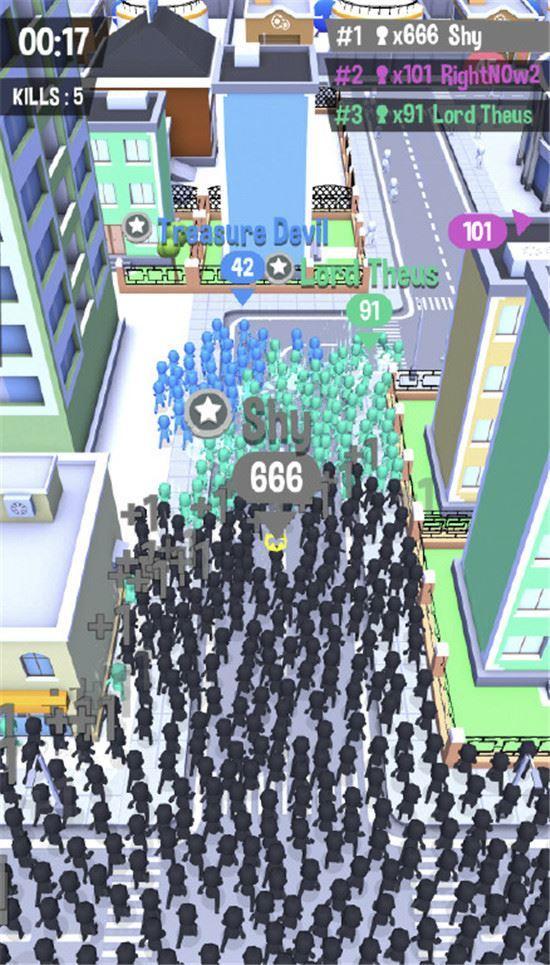 截止 12 月 6 日,拥挤城市是没有出安卓版的,也就是说只有苹果ios版