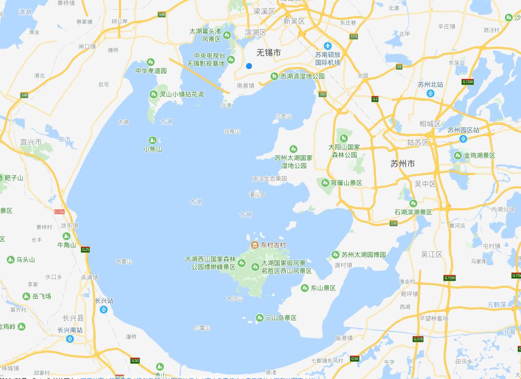 大家打开地图看一下,无锡这座城市,最大的亮点,其实是太湖啊!图片