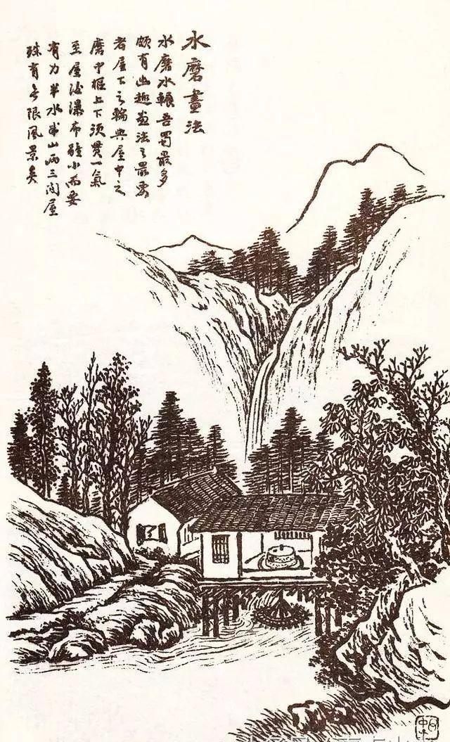 赵春秋冰雪山水画基础技法之房子画法图片