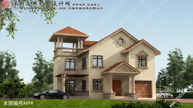 乡村别墅两层设计图纸首层135平方米农村平房设计图大全