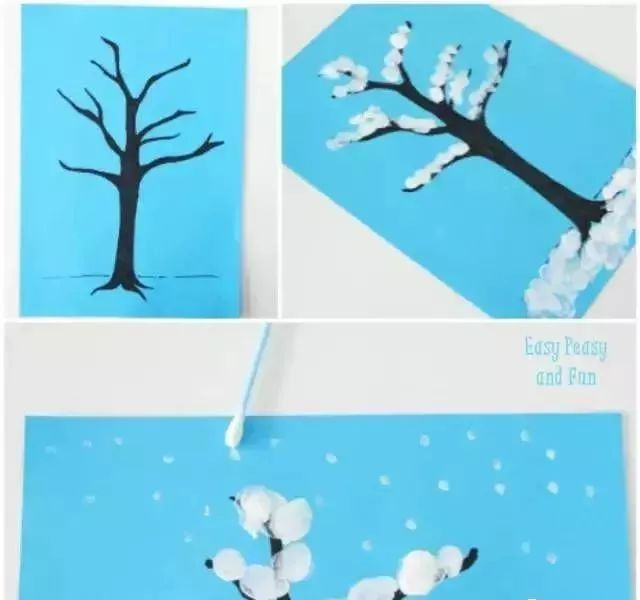 冬季手工制作,做一个美丽的雪世界