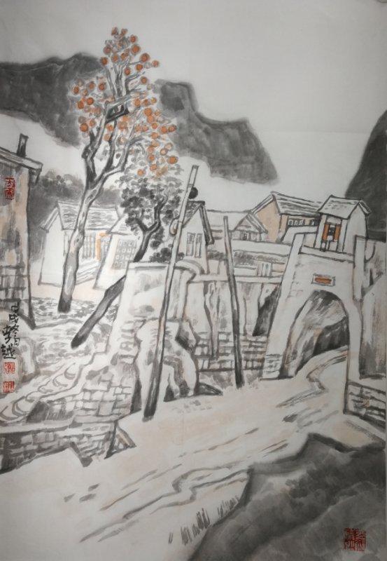 """2017年,作品《这一片土地》入选""""尚意·2017全国中国画[写意]作品展图片"""
