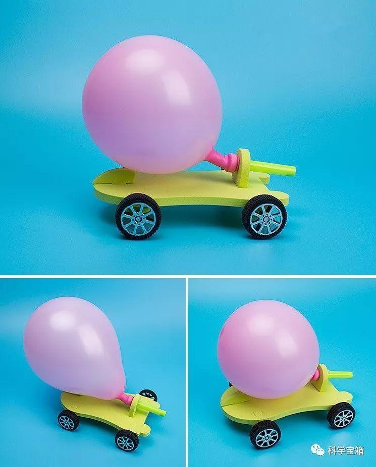 教育 正文  2,利用气球喷出空气的作用力与反作用力来驱动反冲小车.图片