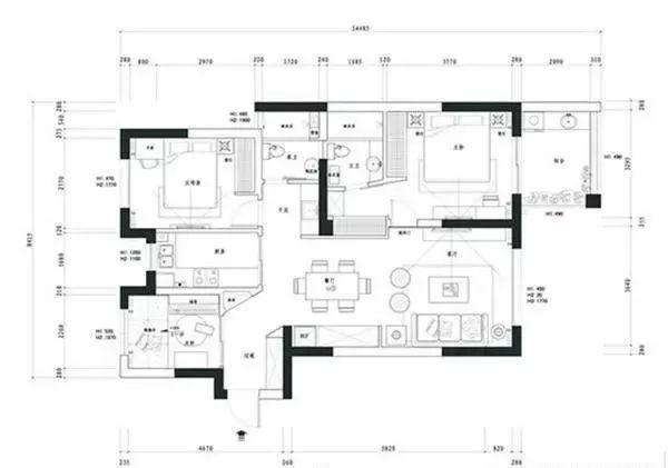曬曬我的美式新家,94㎡的5口之家,主臥的收納,柜子美觀實用圖片