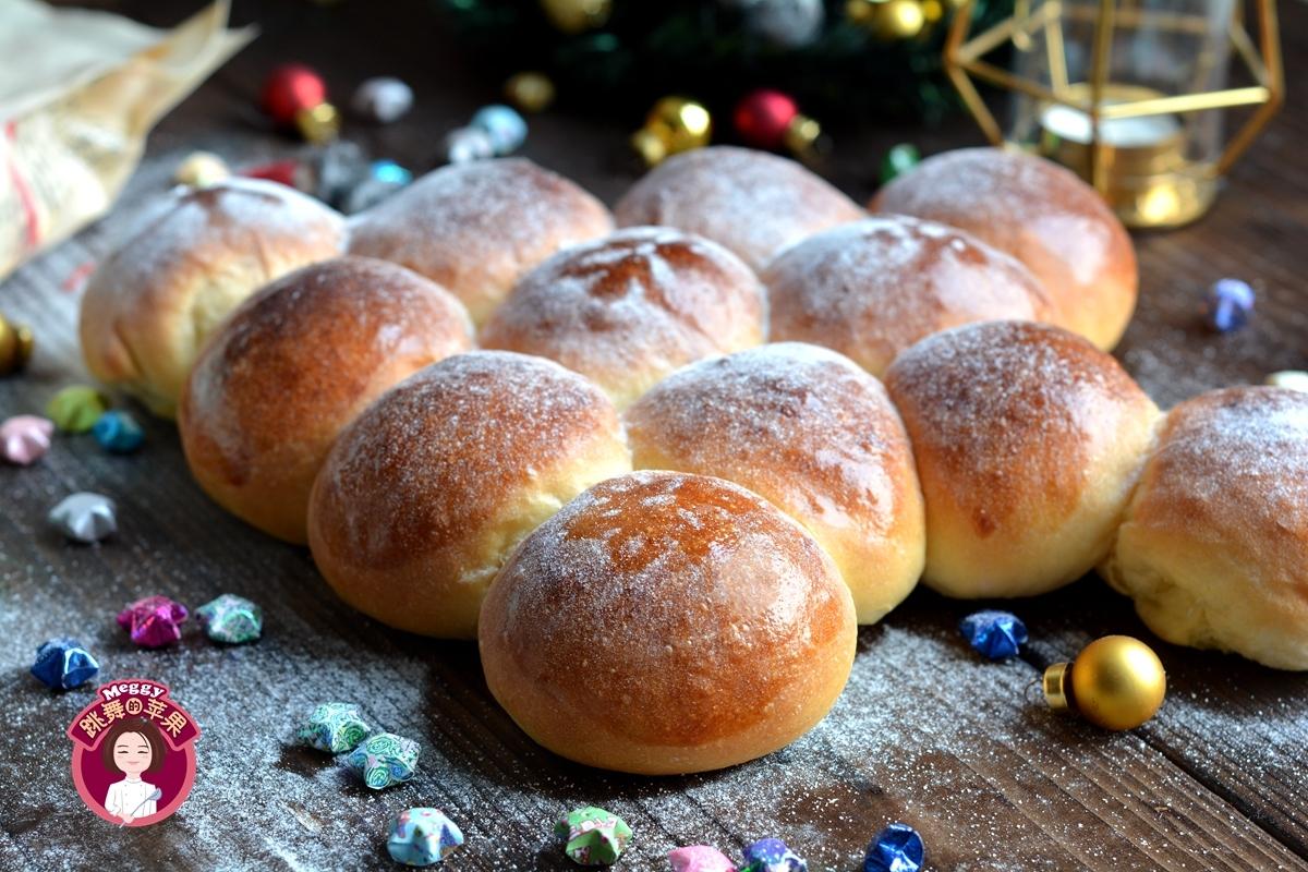 蓬松柔软的圣诞树面包,拉丝,吃一口停不下!