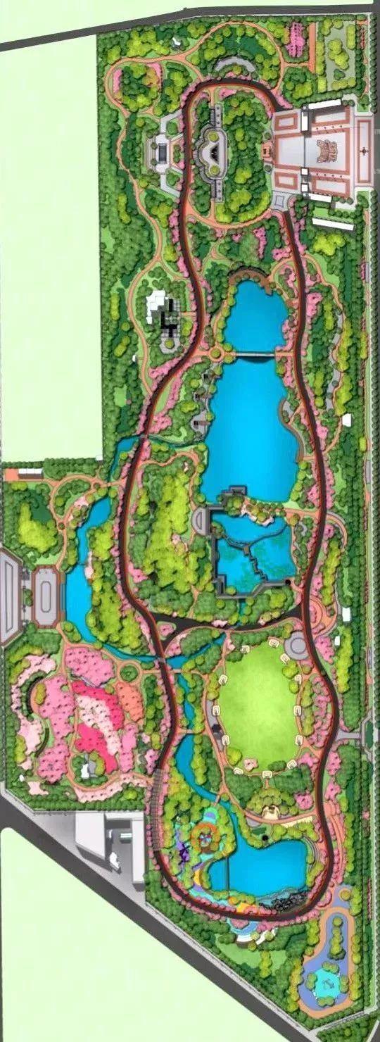 整体公园俯视效果图