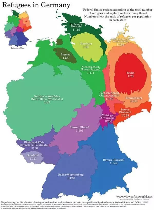 德国 州 人口_德国人口分布模式