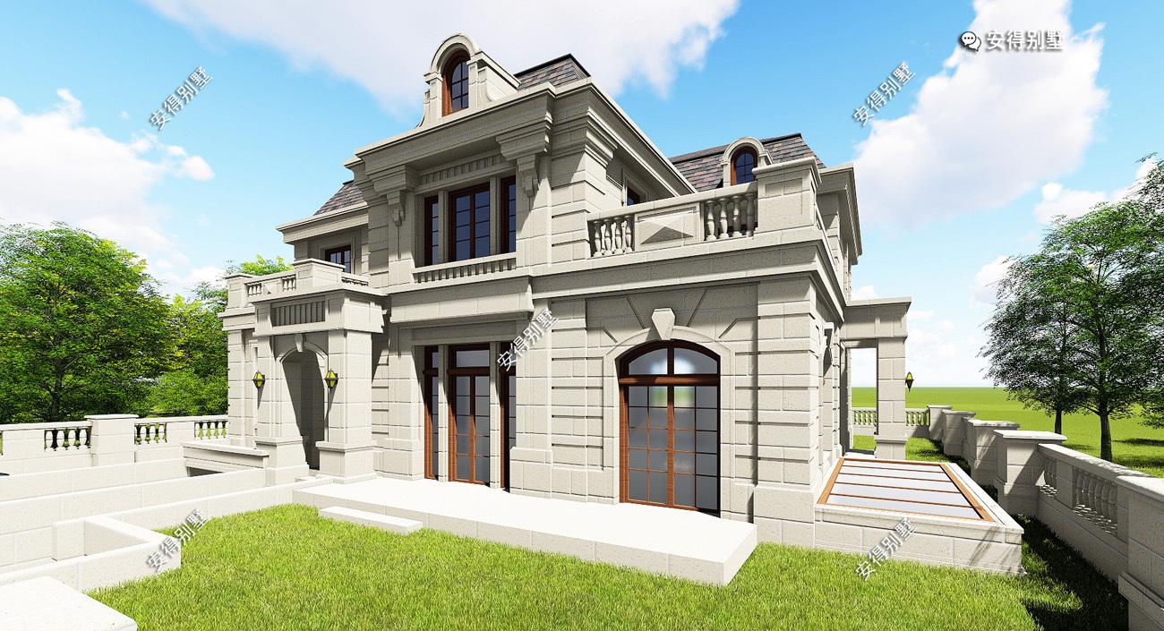 超大别墅_2层欧式别墅就是要这么建,占地15x14米建出了超大豪宅