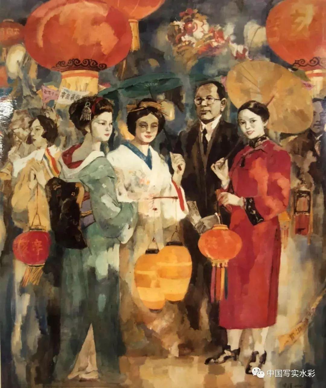 中西合璧 融合跨越|读安滨教授的水彩画