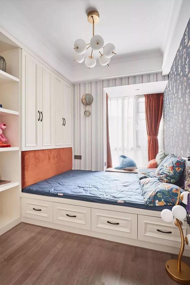 新房装修,儿童房现在都潮流做榻榻米,安全使用又美观