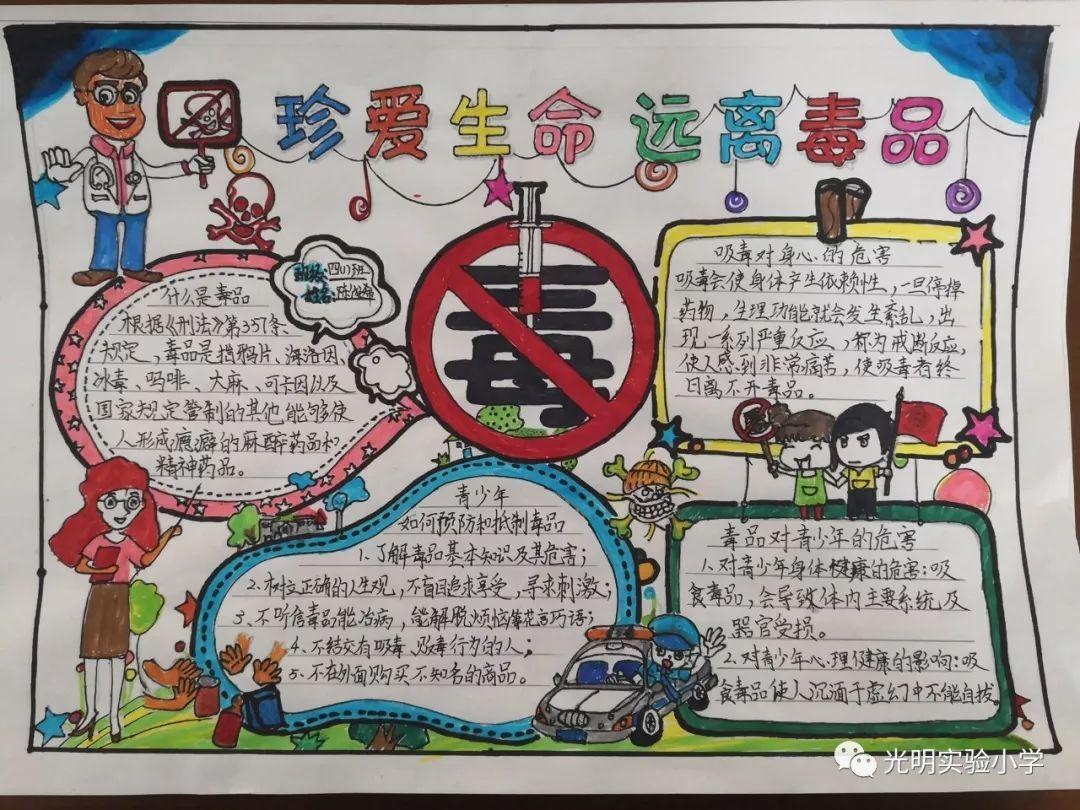 教育 正文  举办禁毒手抄报展览,在全校范围内掀起禁毒教育的热潮.
