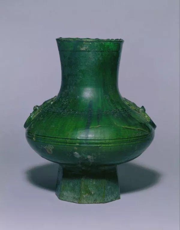 名称】 东汉绿釉陶壶