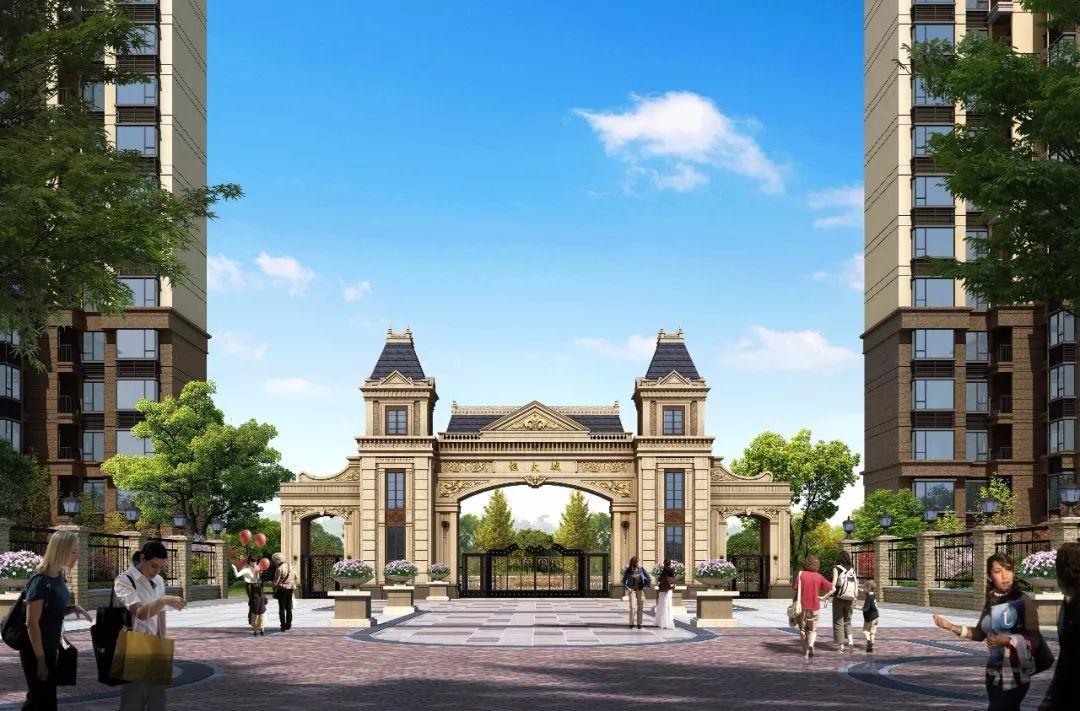 延续以往的欧式建筑风格,恒大城三期在南侧主大门处规划了气势恢弘图片