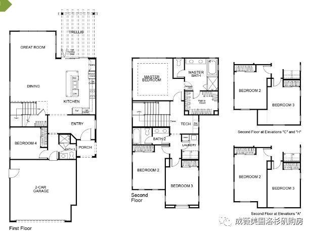 3平方米),双层,4房4浴,2车库惠东平面设计v双层图片