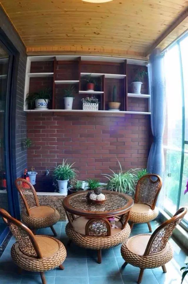 阳台风景独好,增添一个茶室,生活无比乐趣!