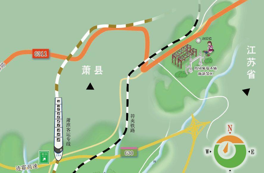 淮北市旅游手绘地图绘制完成,可免费领取