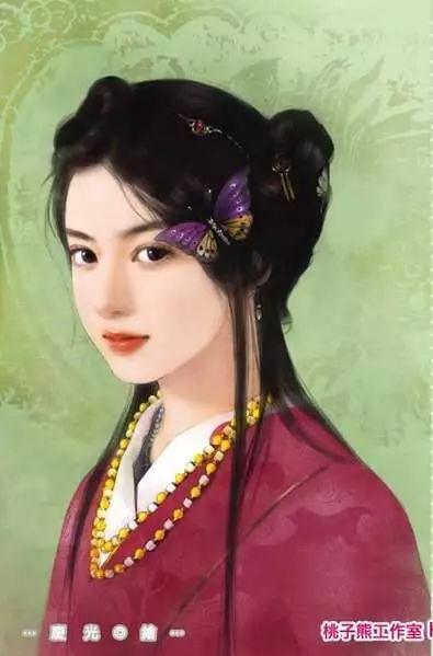 插画师庆光手绘言情风古装女子丨插画欣赏