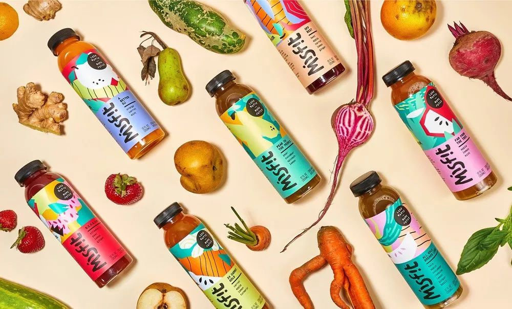 五彩缤纷的果汁包装设计作品鉴赏