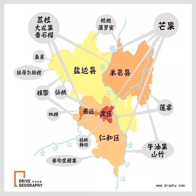 滇西北手绘地图,制作@《自驾地理》