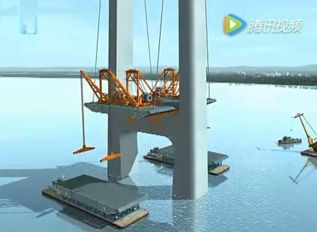 监理检测网:3d动画看完桥梁悬臂拼装法施工全过程图片