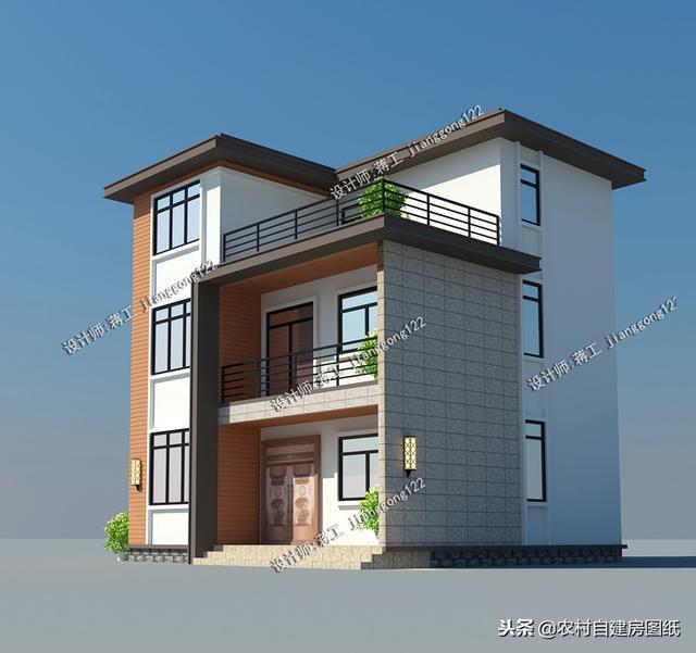 宅基地只有80平房子怎么建 这款现代风把农村别墅提高了一个档次