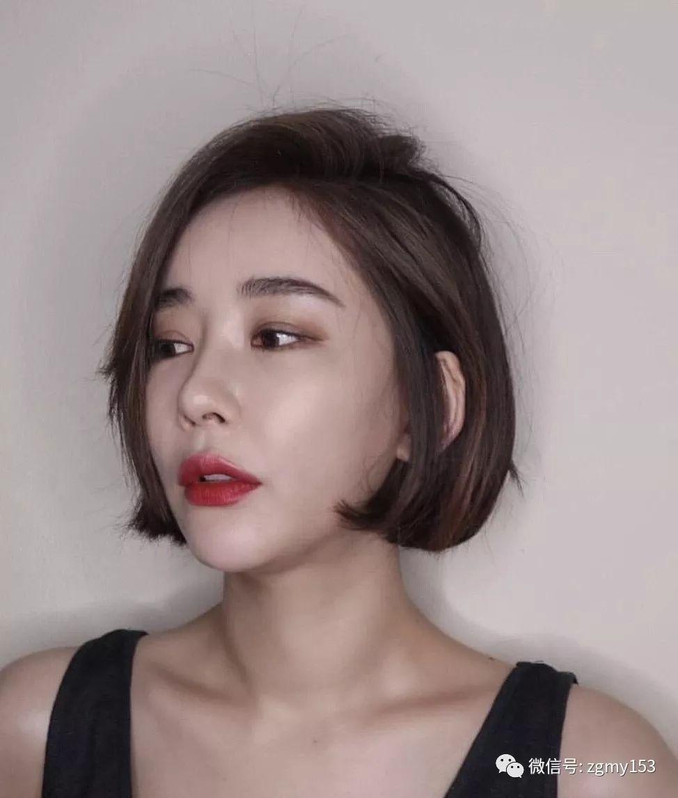 好看的韩式短发烫发发型图片女_手机搜狐网