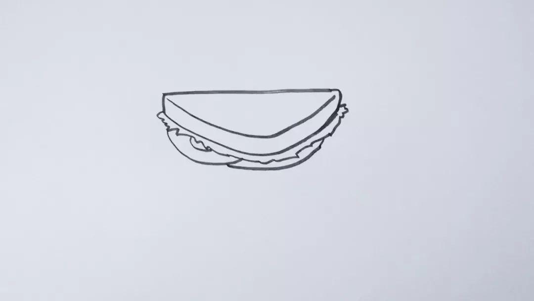 简笔画 三明治 巧手教育