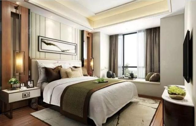 新中式风格卧室追求一种境界 定制家居设计效果图分享图片